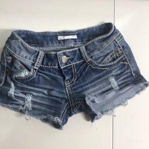 2.1 denim jean shorts Sz 25